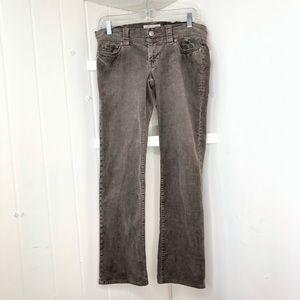 SZ 4 Ultra Low Rise Skinny Stretch Corduroy Pants